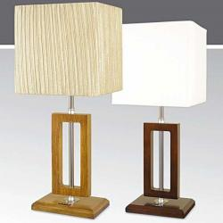 Lampa stołowa drewniana ze ściemniaczem K-MT68388