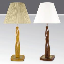 Lampa stołowa drewniana ze ściemniaczem Kaja K-MT68440D