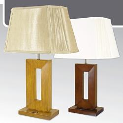Lampa stołowa drewniana ze ściemniaczem Kaja K-MT6877