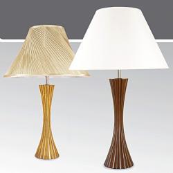 Lampa stołowa drewniana ze ściemniaczem Kaja K-MT6888M