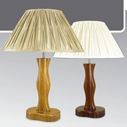 Lampa stołowa drewniana ze ściemniaczem Kaja K-MT6890