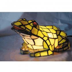 Lampa witrażowa stołowa Kaja żabka
