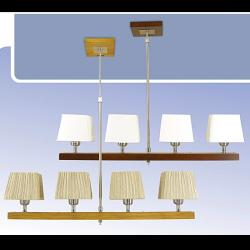 Żyrandol drewniany Kaja K-MD68434A/4