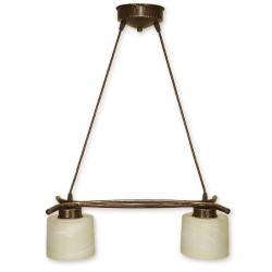 Lampa wisząca Lemir Kwazar brązowa O1102/W2 BR