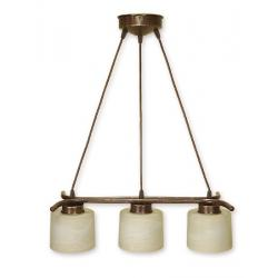 Lampa wisząca Lemir Kwazar brązowa O1103L/W3 BR