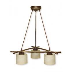 Lampa wisząca Lemir Kwazar brązowa O1103/W3 BR