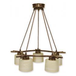 Lampa wisząca Lemir Kwazar brązowa O1105/W5 BR