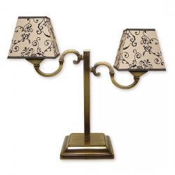 Lampka stołowa Lemir Kade Abażur patyna O1048/L2
