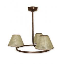 Lampa wisząca Lemir Tores Abażur brązowa O1273/W2 BR