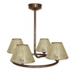 Lampa wisząca Lemir Tores Abażur brązowa O1274/W4 BR
