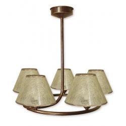 Lampa wisząca Lemir Tores Abażur brązowa O1275/W5 BR