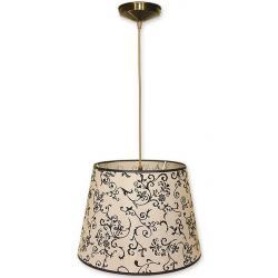 Lampa wisząca abażur Stożek Lemir oliwka O1200/W1 K_13