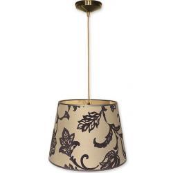 Lampa wisząca abażur Stożek Lemir oliwka O1200/W1 K_14