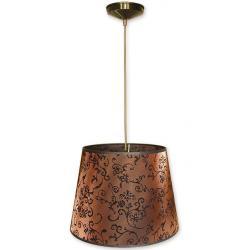 Lampa wisząca abażur Stożek Lemir oliwka O1200/W1 K_15