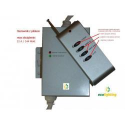Sterownik do taśm RGB Ecolighting 12A z pilotem radiowym