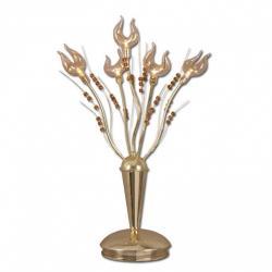 Lampka biurkowa Lis Linda złota 1283B