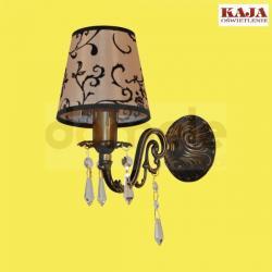 Kinkiet Kaja K-1502 kryształ abażur patyna...