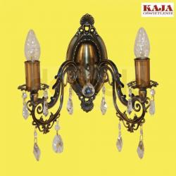 Kinkiet Kaja K-1513 kryształ patyna...