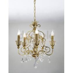 Lampa wisząca Italux Royal 5 x 60W złota