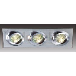 Oprawa halogenowa Italux Downlights  GU5,3 3 x 35W metal szczotkowany...