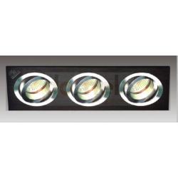 Oprawa halogenowa Italux Downlights GU5,3 3 x 35W czarny...