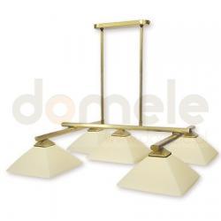 Lampa wisząca Lemir Krzyżak 5 x 60W satynowa ...