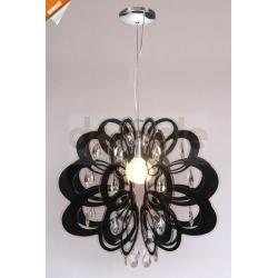 Lampa wisząca Italux Molta 1 x E27 czarna