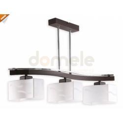 Lampa wisząca Lemir Sona 3 x E27 chrom + rdza wenge