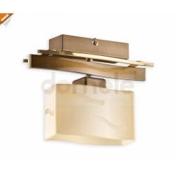 Plafon Lemir Rega E27 mosiądz + złoty perłowy