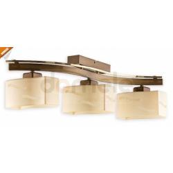 Plafon Lemir Rega 3 x E27 mosiądz + złoty perłowy