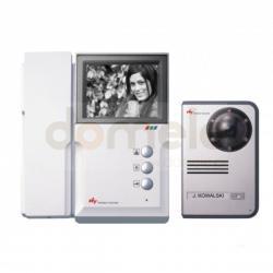 Zestaw wideodomofonowy czarno-biały Hyundai HA-201/HCB-701