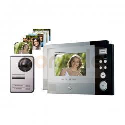 Zestaw wideodomofonowy 2-rodzinny kolorowy Hyundai HAC-307NMx2/HCC-702
