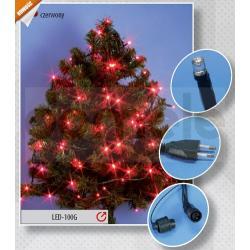 Lampki choinkowe wewnętrzne LED Rum-Lux LW-LED-100G czerwone