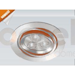Lampa sufitowa wpuszczana LED Elkim 3200/6000K 3x3W LDC801B