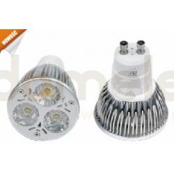 Żarówka LED Allando GU10 3W barwa biała ciepła...