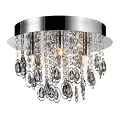 Plafon LampGustaf Loire 35cm czarny chrom 060171...