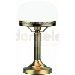 Lampa stołowa LampGustaf Strindberg mała patyna klosz biały 861709...