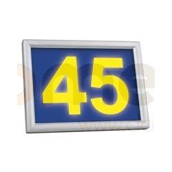Podświetlany numer domu LED solarny Sowar LEDnumer żółty 9319-117-A...