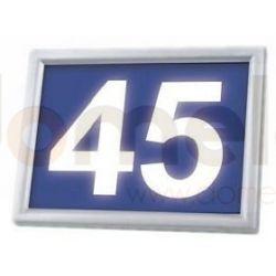Podświetlany numer domu LED solarny Sowar LEDnumer niebieski 9319-116-A...