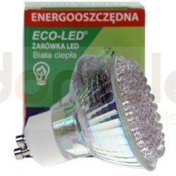 Żarówka 80 LED Eco-Led GU10 120st ciepła 140lm...