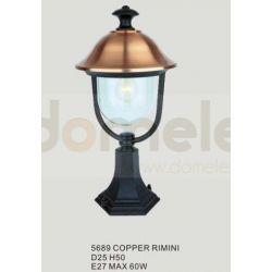 Lampa ogrodowa stojąca Italux Rimini 1x60W copper...