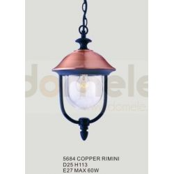 Lampa ogrodowa wisząca Italux Rimini 1x60W copper...