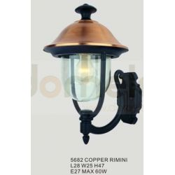 Kinkiet ogrodowy Italux Rimini 1x60W copper...
