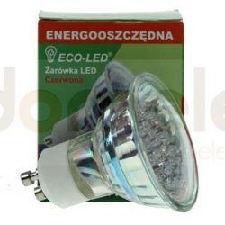 Żarówka 21 LED ECO-LED GU10 czerwona...