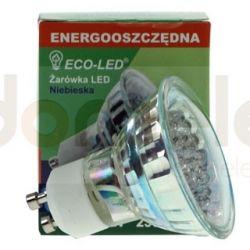 Żarówka 21 LED ECO-LED GU10 niebieska...