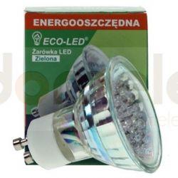 Żarówka 21 LED ECO-LED GU10 zielona...