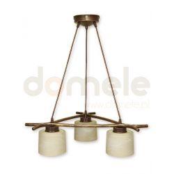 Lampa wisząca Lemir Kwazar brązowa O1103/W3 BR...