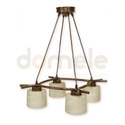 Lampa wisząca Lemir Kwazar brązowa O1104/W4 BR...