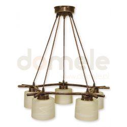 Lampa wisząca Lemir Kwazar brązowa O1105/W5 BR...