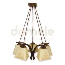 Lampa wisząca Lemir Lori brązowa O1405 BR...